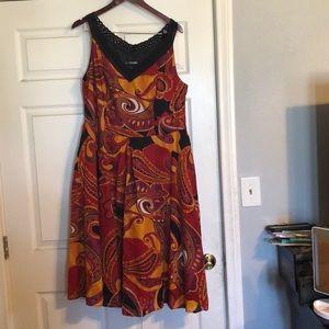 Nice multicolor dress.